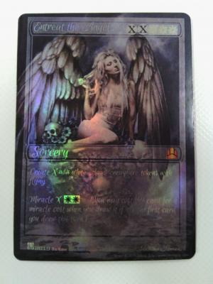Entreat the Angels Card Alter by outlawcustomcreations